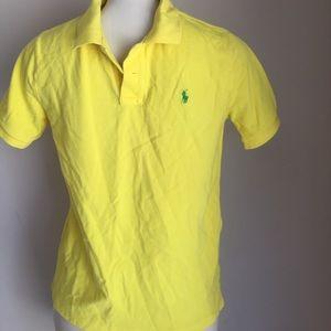 Boys Ralph Lauren polo shirt Yellow L 14/16
